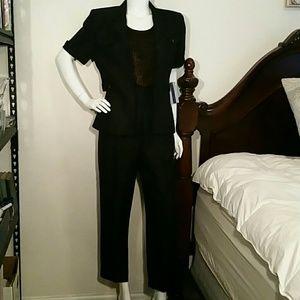 New Amanda Smith Size 6 Black Pant Suit